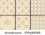 seamless background with... | Shutterstock .eps vector #595689089