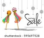 creative sale banner or sale... | Shutterstock .eps vector #595697528