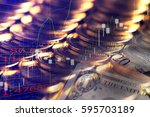 finance background with money... | Shutterstock . vector #595703189