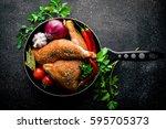 grilled chicken with garlic ...