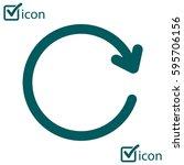 ciircular arrow sign vector...   Shutterstock .eps vector #595706156
