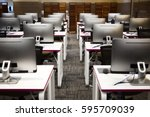 computer room | Shutterstock . vector #595709039