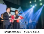 disfocus of the award ceremony... | Shutterstock . vector #595715516