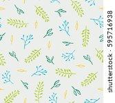 beautiful floral pattern.... | Shutterstock .eps vector #595716938