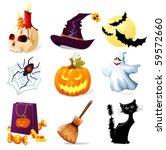 halloween icons | Shutterstock .eps vector #59572660