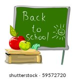 vector back to school... | Shutterstock .eps vector #59572720