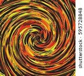 swirl of paint in spiral... | Shutterstock . vector #595728848