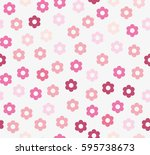seamless pattern with pink...   Shutterstock .eps vector #595738673