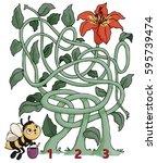 vector illustration  maze  help ...   Shutterstock .eps vector #595739474