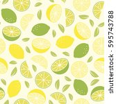 citrus fruit background.... | Shutterstock .eps vector #595743788