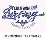 california surfing.suitable for ... | Shutterstock .eps vector #595750619