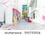 blurred background   shopping... | Shutterstock . vector #595755926