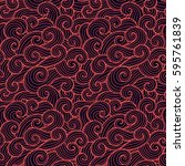 seamless abstract pattern.... | Shutterstock .eps vector #595761839