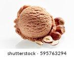 scoop of delicious creamy... | Shutterstock . vector #595763294
