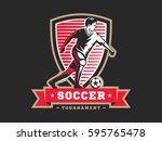 soccer football logo  emblem... | Shutterstock .eps vector #595765478