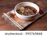 beef noodles braised taste...   Shutterstock . vector #595765868