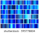 vector set of blue gradients... | Shutterstock .eps vector #595778834