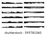 set of grunge edges.vector... | Shutterstock .eps vector #595781360