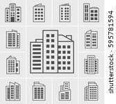 icons building | Shutterstock .eps vector #595781594