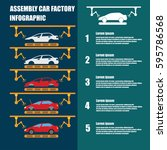 assembly car infographic  ... | Shutterstock .eps vector #595786568
