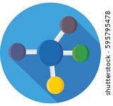 atom vector icon | Shutterstock .eps vector #595795478