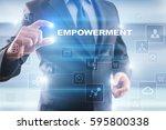businessman selecting... | Shutterstock . vector #595800338