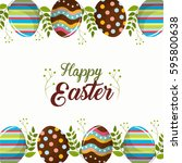 easter eggs day icon   Shutterstock .eps vector #595800638