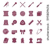 web icons set of sewing... | Shutterstock .eps vector #595809656
