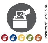 ballot  icon set.vector...   Shutterstock .eps vector #595816208