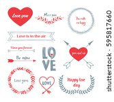 collection of arrow  labels and ... | Shutterstock .eps vector #595817660