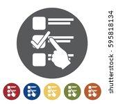 choose icon set.vector... | Shutterstock .eps vector #595818134