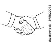 shake hand | Shutterstock .eps vector #595820093