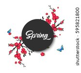 Spring. Vector Lettering With...