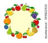 fruit background. vector   Shutterstock .eps vector #595822523