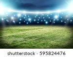 football pitch background  | Shutterstock . vector #595824476