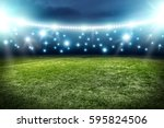 football pitch background  | Shutterstock . vector #595824506