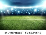 football pitch background  | Shutterstock . vector #595824548