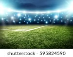 football pitch background  | Shutterstock . vector #595824590