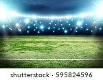 football pitch background  | Shutterstock . vector #595824596