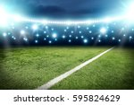 football pitch background  | Shutterstock . vector #595824629