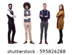 full body group of people | Shutterstock . vector #595826288