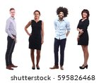 full body group of people | Shutterstock . vector #595826468