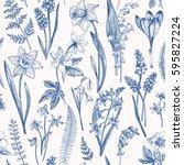 Vintage Seamless Floral Patter...