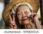 phop phra  tak  thailand  ... | Shutterstock . vector #595834214