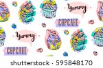 hand drawn vector abstract... | Shutterstock .eps vector #595848170