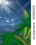 seascape for palm | Shutterstock . vector #59585203