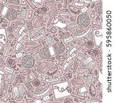 cartoon cute hand drawn... | Shutterstock .eps vector #595860050