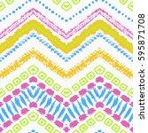 tribal ethnic seamless pattern. ... | Shutterstock .eps vector #595871708