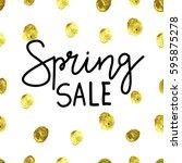 spring sale banner  sale poster ...   Shutterstock .eps vector #595875278