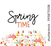 floral vector illustration with ...   Shutterstock .eps vector #595875338